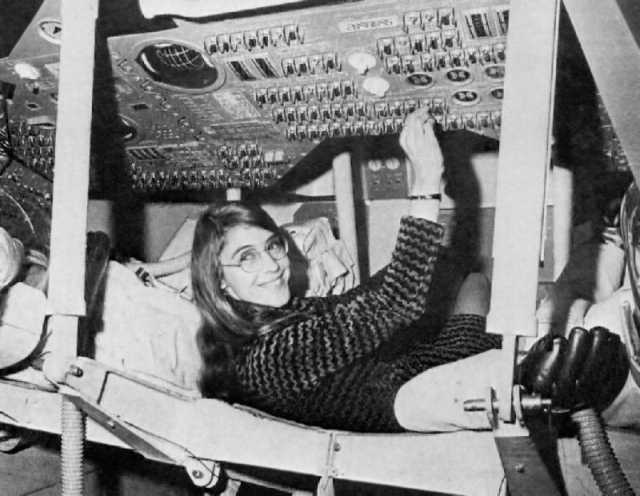 Hamilton during her time as lead Apollo flight software designer. Source: Wikimedia Commons