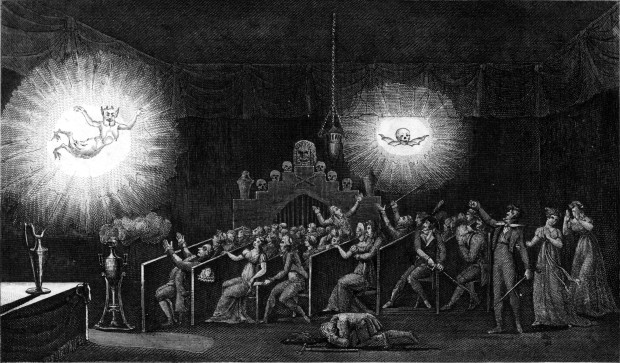 Robertson's Phantasmagoria at the abandoned Convent des Capucines, Paris (image via Wikimedia Commons)