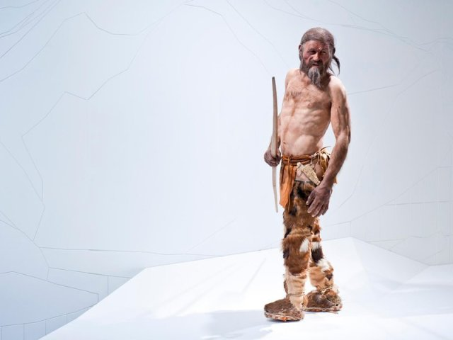 A reconstruction of Ötzi the Iceman at the South Tyrol Museum of Archaeology. (OetziTheIceman /Flickr CC)