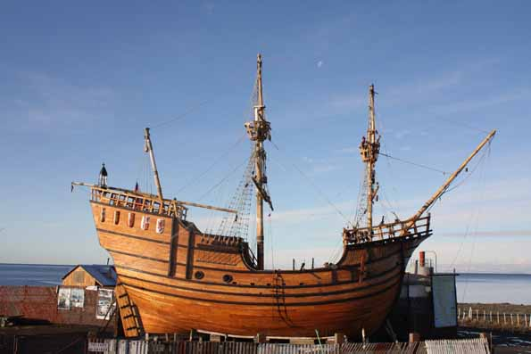 The Nao Victoria Replica in the Nao Victoria Museum, Punta Arenas, Chile Source: Wikimedia Commons