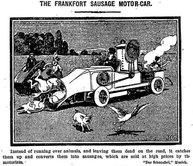 Sausage motor car