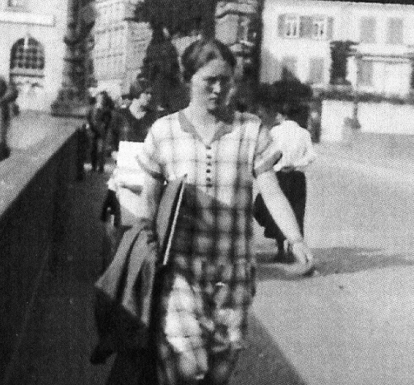 Erika von Huene at the Tuebingen University.
