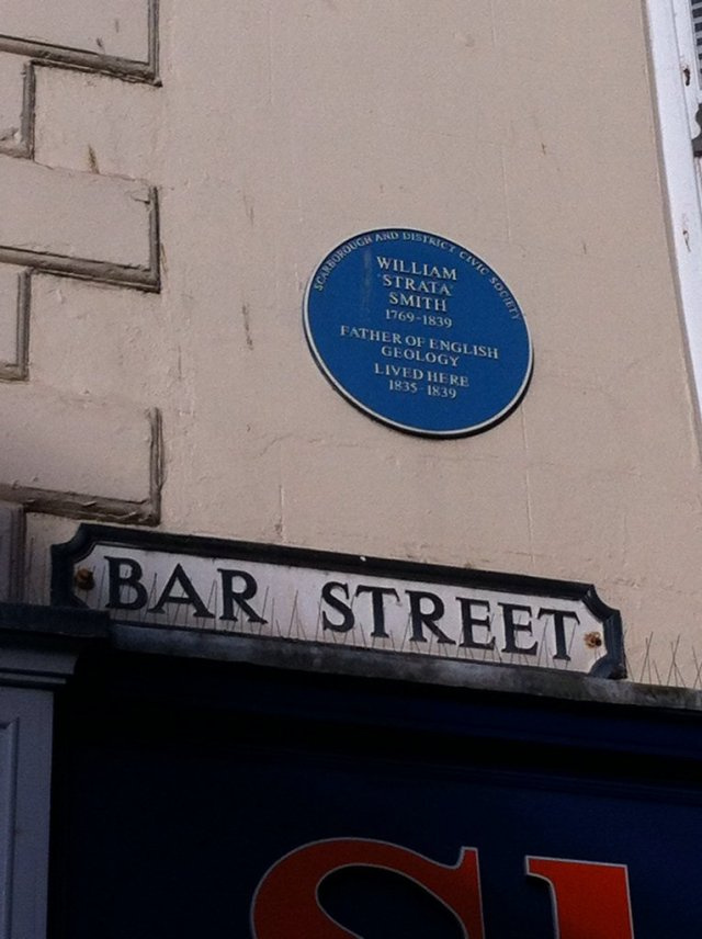 "William ""Strata"" Smith Blue Plaque"