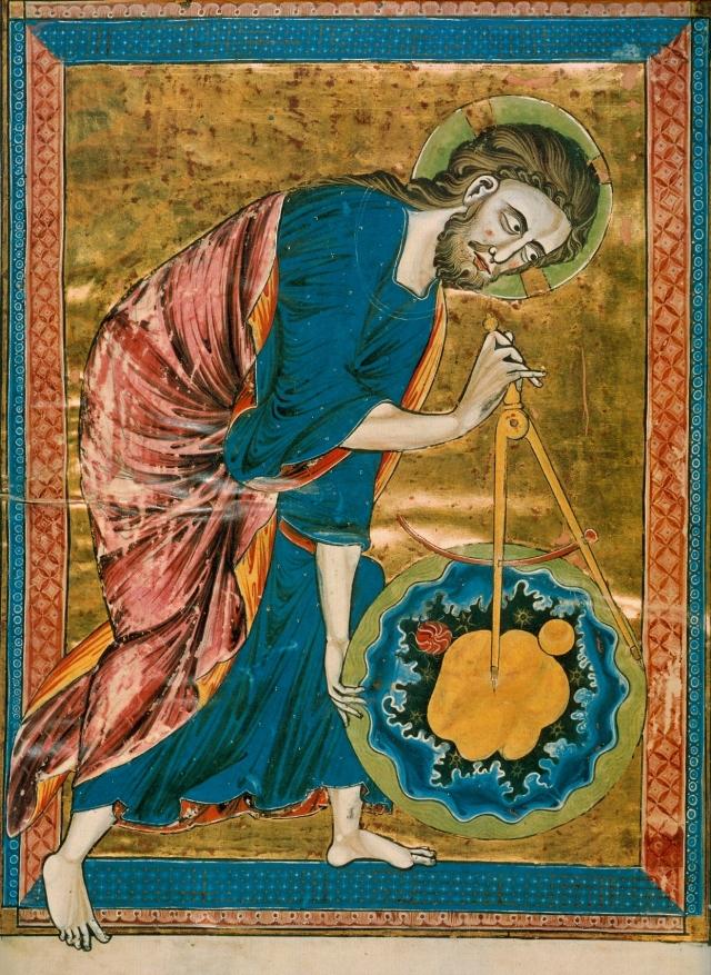 God the Geometer, circa 1220-1230.