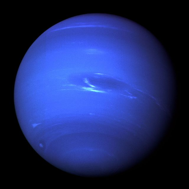 Neptune from Voyager 2 Source: Wikimedia Commons