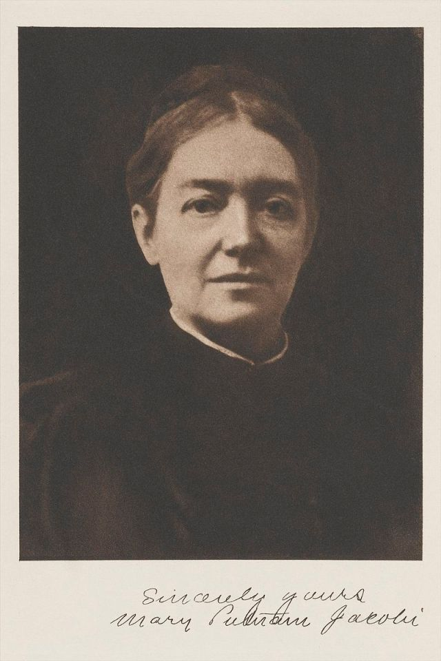 Photographic portrait of Mary Putnam Jacobi, M.D. Wellcome Images Source: Wikimedia Commons