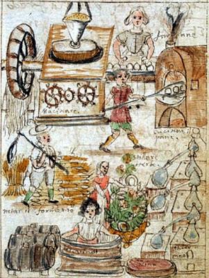 """Antonio Neri, Tesoro del Mondo, f. 9r. """"Arts Preparatio frugu vel Piantar."""""""