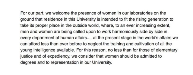 Rutherford campaigned for women to be admitted to Cambridge. His letter with William Pope to ‪@thetimes, in 1920: