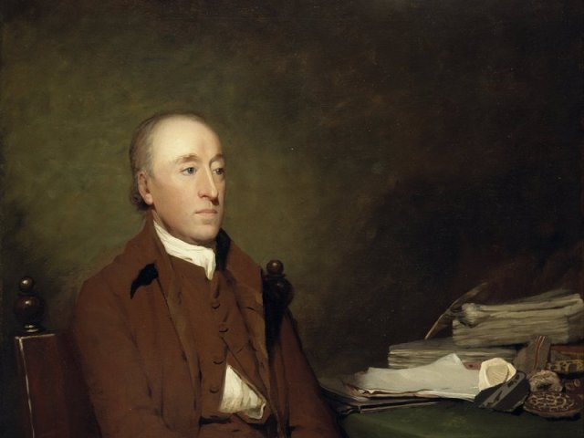 Hutton, as painted by Sir Henry Raeburn in 1776. (National Galleries of Scotland) Read more: http://www.smithsonianmag.com/history/father-modern-geology-youve-never-heard-180960203/#K6ZjXcsLrSkIJdCi.99 Give the gift of Smithsonian magazine for only $12! http://bit.ly/1cGUiGv Follow us: @SmithsonianMag on Twitter