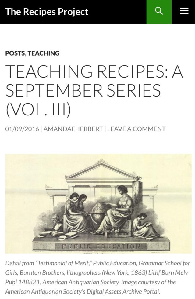 teching-recipes