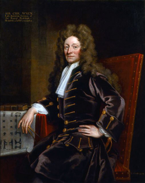 Christopher Wren by Godfrey Kneller 1711 Source: Wikimedia Commons