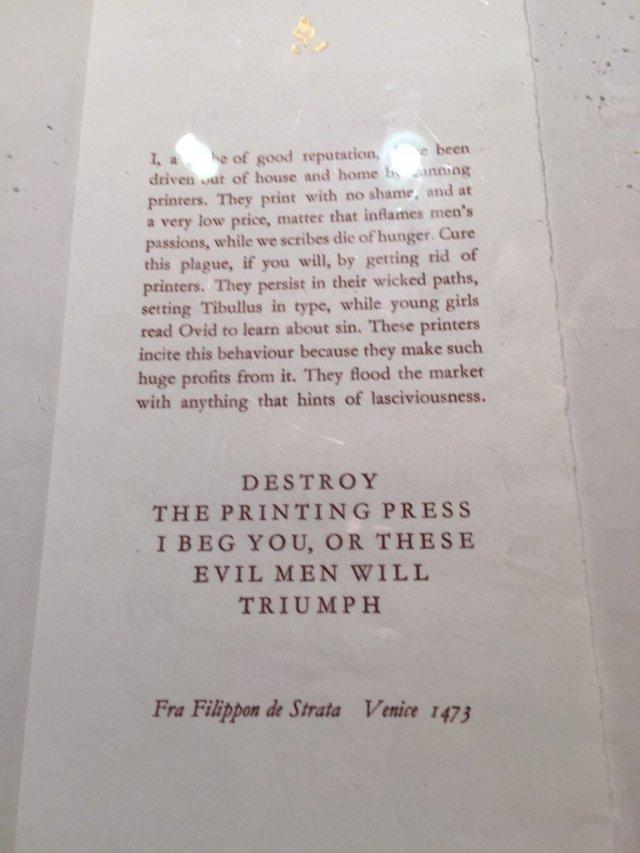 Printing Press h/t Jennifer Schuesssler