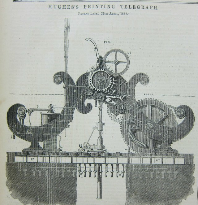 Hughes's Printing Telegraph h/t John Ptak (@ptak)