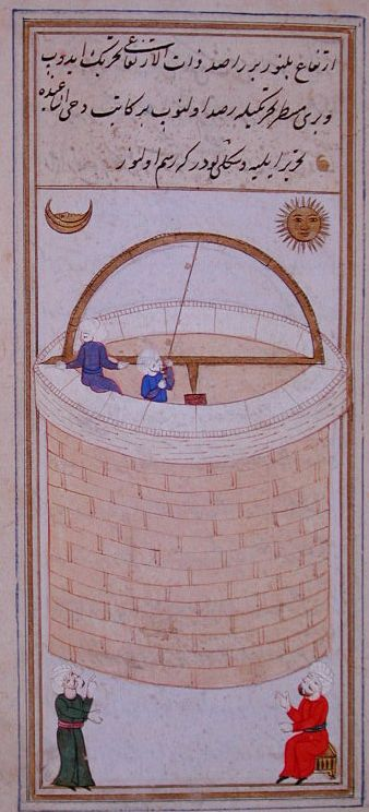 The miniature of the Istanbul Observatory well.