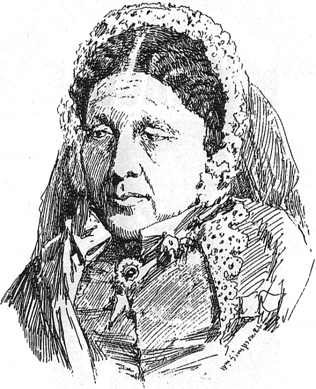 Sketch of Mary Seacole by Crimean war artist William Simpson (1823–1899), c. 1855 Source: Wikimedia Commons