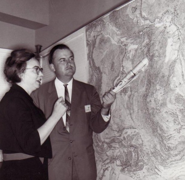 Marie Tharp and Bruce Heezen (via Wikimedia Commons)
