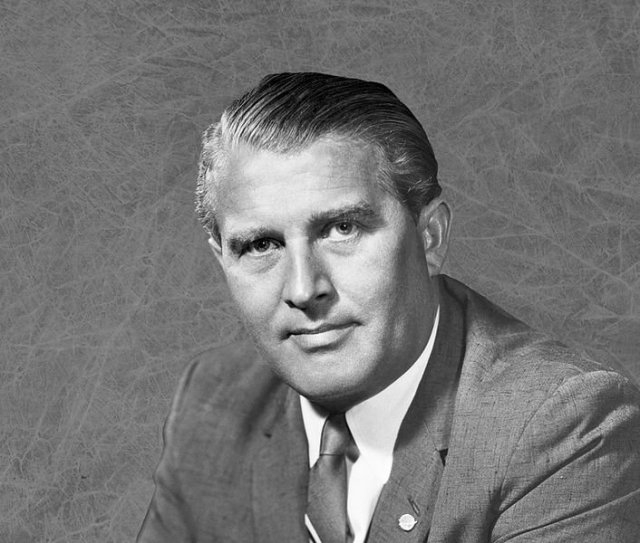 Wernher von Braun, one of the architects of the Apollo program, was a Nazi scientist brought to the U.S. in secret in 1945. (NASA/Marshall Space Flight Center) Read more: http://www.smithsonianmag.com/smart-news/why-us-government-brought-nazi-scientists-america-after-world-war-ii-180961110/#het5Y3MhLQraAXpQ.99 Give the gift of Smithsonian magazine for only $12! http://bit.ly/1cGUiGv Follow us: @SmithsonianMag on Twitter