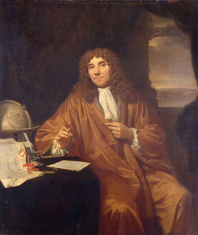 A portrait of Antonie van Leeuwenhoek (1632–1723) by Jan Verkolje Source: Wikimedia Commons