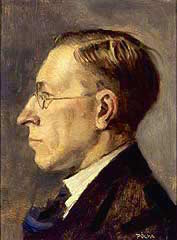 Oil painting of Banting in 1925 by Tibor Polya, now in the possession of the National Portrait Gallery of Canada Source: Wikimedia Commons