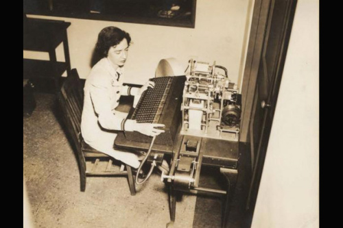Grace Hopper working on the Harvard Mark I Source: Harvard Gazette