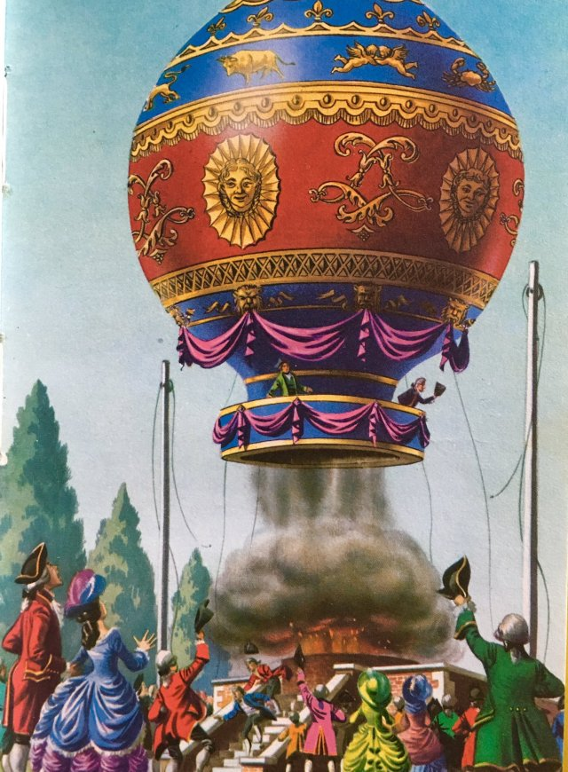 Today in Ladybird 21 Nov 1783 Montgolfier balloon rises 3000 feet with 2 passengers and travels 5 and a half miles