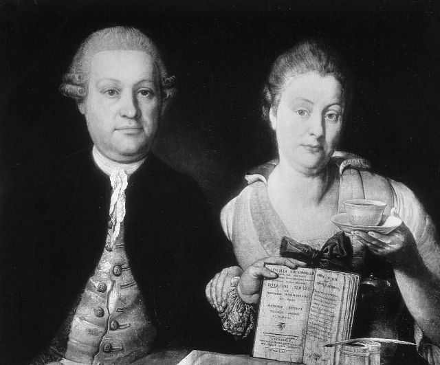 Leopold Auenbrugger and his wife Source: Wikimedia Commons