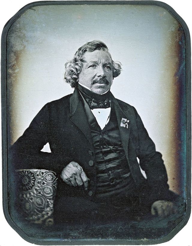 Portrait of Louis Daguerre (1787-1851) Source: Wikimedia Commons