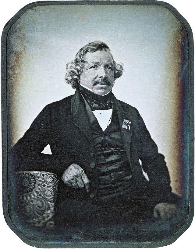 Portrait of Louis Daguerre (1787-1851) Source: Wikimedia Commons