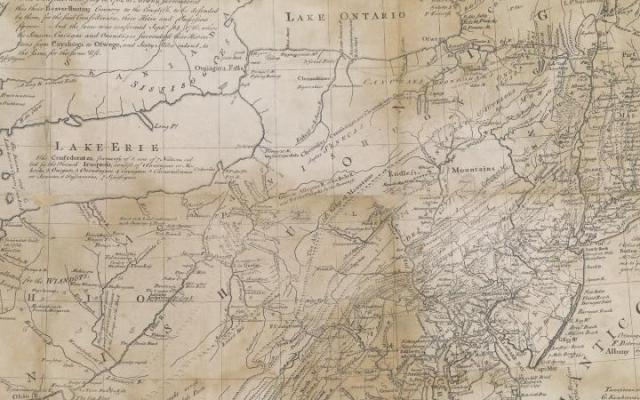 Lewis Evans, Map of the Middle British Colonies (OS-1755-11)