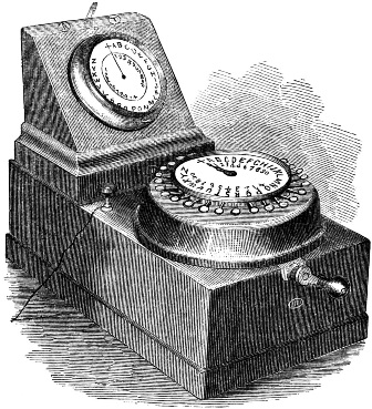 Charles Wheatstone's Universal Telegraph The world's first electric telegraph made for ordinary people to use in their offices, workplaces and homes; the first instrument to interconnect private subscribers through hubs or exchanges. Patented in 1858, perfected by Augustus Stroh in 1863