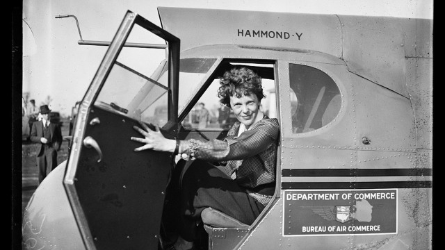 Amelia Earhart, 1936. LIBRARY OF CONGRESS/LC-DIG-HEC-40747
