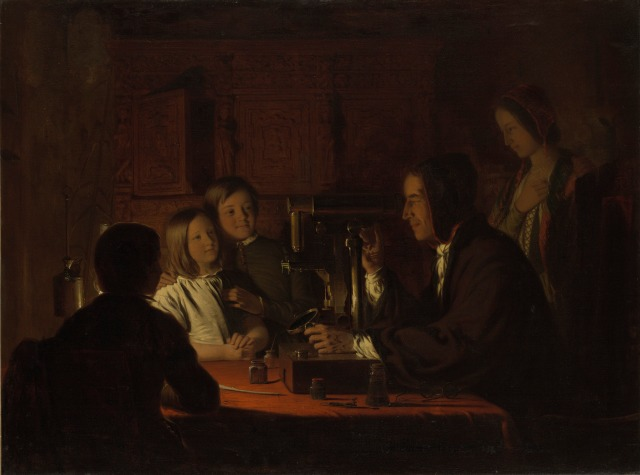 Robert Walter Weir The Microscope Yale University Art Gallery