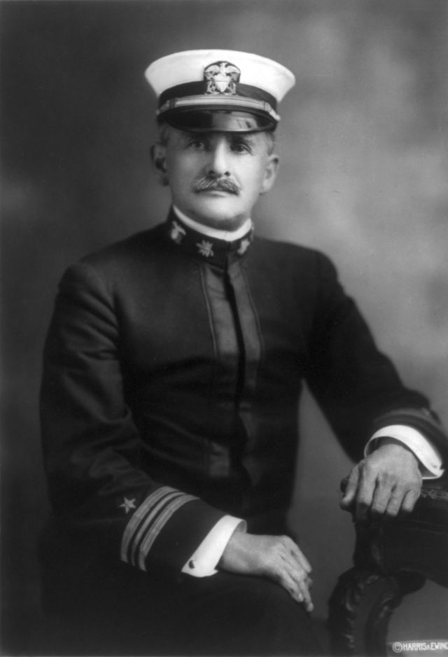 Lt. Cmdr. Albert A. Michelson while serving in the U.S. Navy. He rejoined the U.S. Navy in World War I, when this portrait was taken. Source: Wikimedia Commons