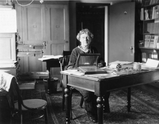 Annie Jump Cannon at her desk at the Harvard College Observatory Source: Wikimedia Commons