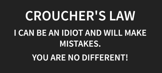 Croucher's Law – Mike Crocher (@walkingrandomly)