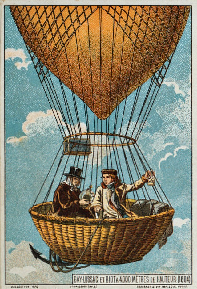 J.L. Gay-Lussac & Jean-Baptiste Biot take to the skies in 1804 h/t @bhgross