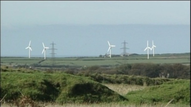 The turbines are a landmark in the Cornish countryside Credit: ITV West Country