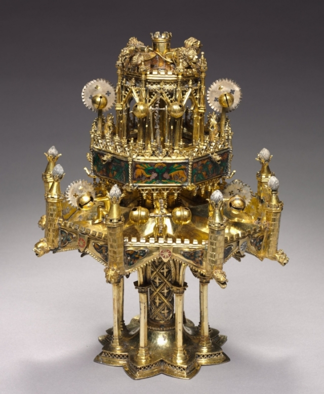 Table Fountain (c. 1320–40), gilt-silver, translucent enamel on basse-taille, opaque enamel (all photos courtesy Cleveland Museum of Art unless otherwise noted)