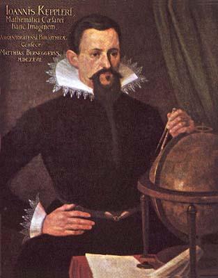 Johannes Kepler, zeitgenössisches Gemälde (Kopie nach dem Straßburger Original von 1620)