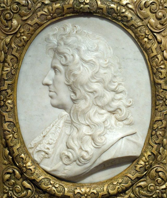 Christiaan Huygens, relief by Jean-Jacques Clérion, around 1670? Source: Wikimedia Commons