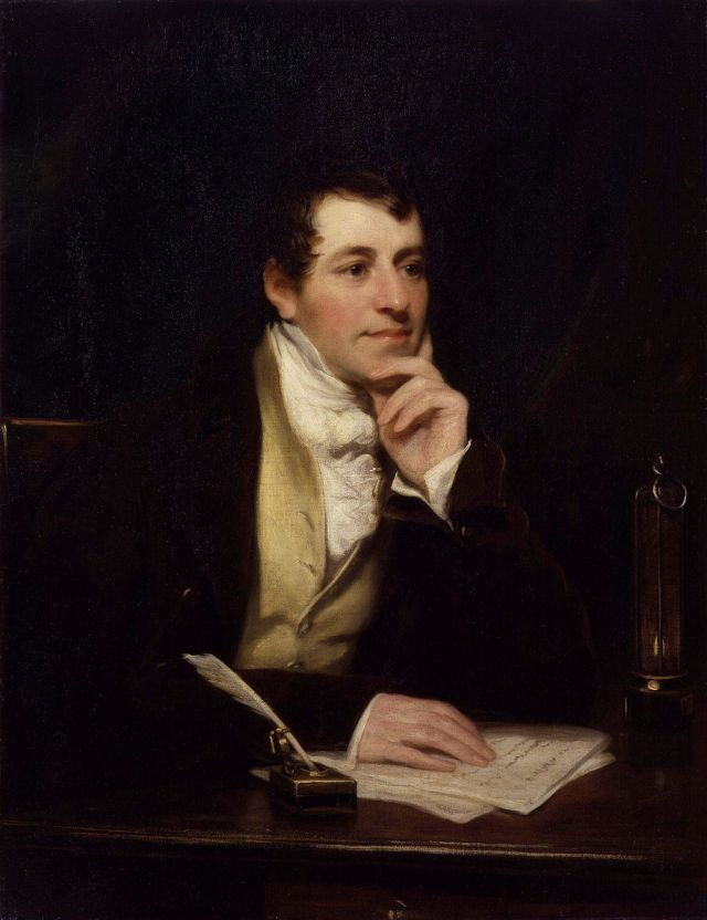 Sir Humphry Davy, Bt, by Thomas Phillips Source: Wikimedia Commons