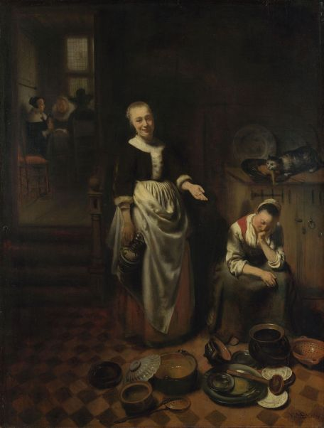 Nicholas Maes, the Idle Servant – image from Wikimedia Commons