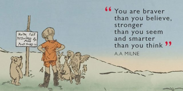 A. A. Milne, the creator of Winnie-the-Pooh, born 18 January 1882