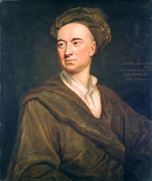 Painting of John Arbuthnot, the physician and mathematician, by Godfrey Kneller Source: Wikimedia Commons