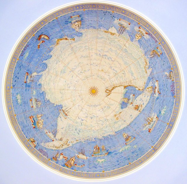 Scott Polar Research Institute: Ceiling Antarctic