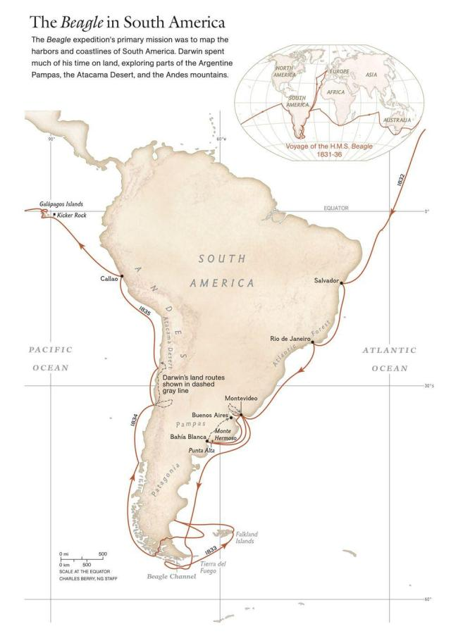 National Geographic Society: 1831: HMS Beagle Leaves to Explore South America