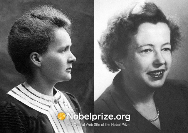 (Only) 2 times has a woman been awarded a Nobel Prize in Physics, Marie Curie 1903 & Maria Goeppert Mayer 1963