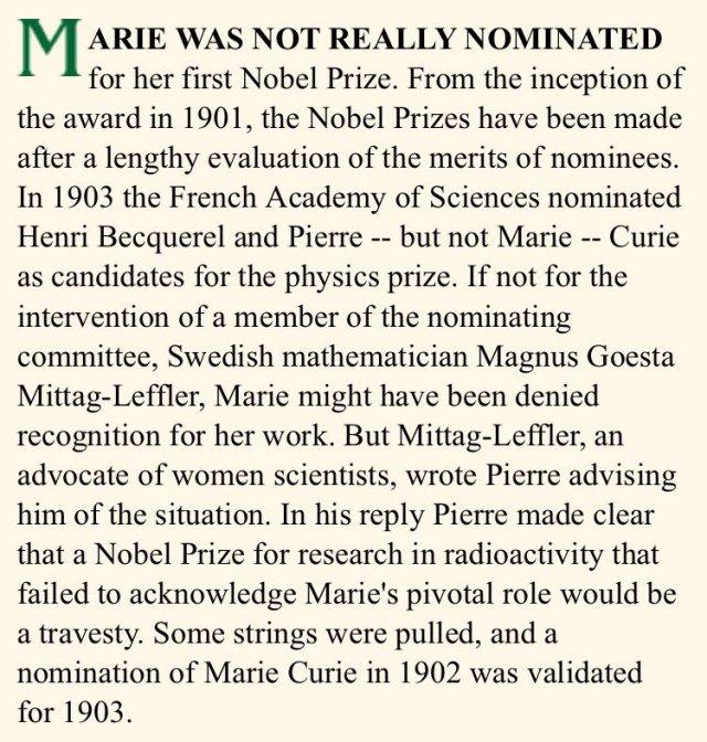 Marie Curie's Nobel