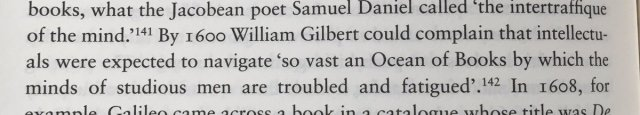 William Gilbert sums up intellectual life (Wootton. The Invention of Science p304) h/t @KateMorant