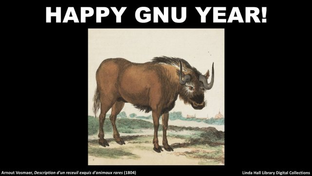 Happy Gnu Year from @LindaHall_org!